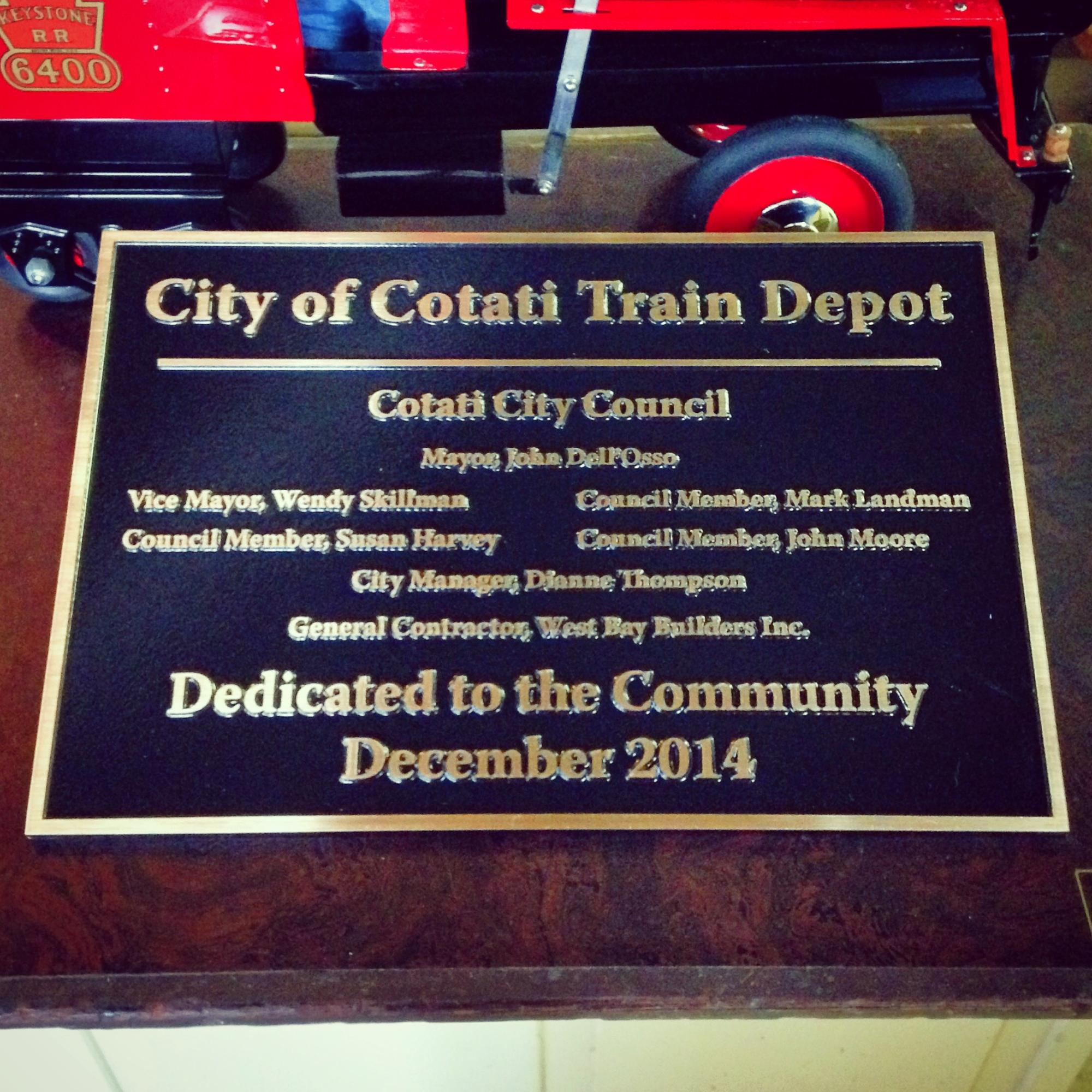Cast Bronze sign for City of Cotati