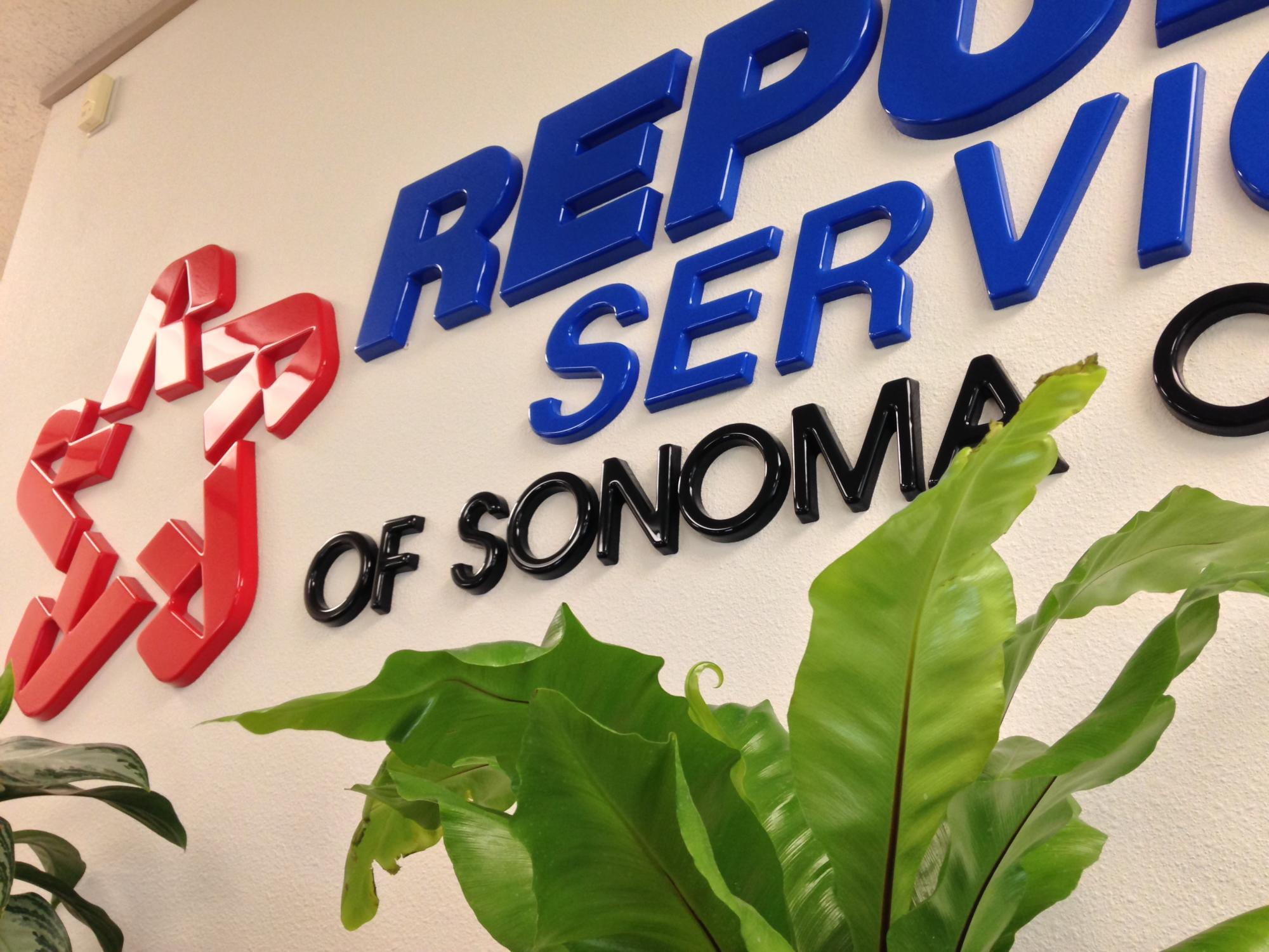 Republic Services extruded plastic letters
